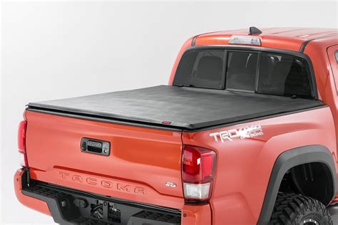 2244 tri fold bed cover soft tri fold bed cover for 16 17 toyota tacoma
