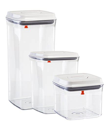 plastic storage containers for kitchen food storage containers set of 3 airtight seal with 7506