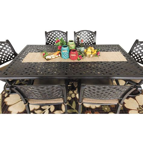 52 quot castle rock cast aluminum patio table ld10 a by