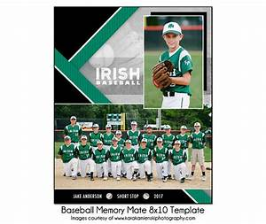 baseball mm10 8x10 memory mate template sports photo With sports team photography templates