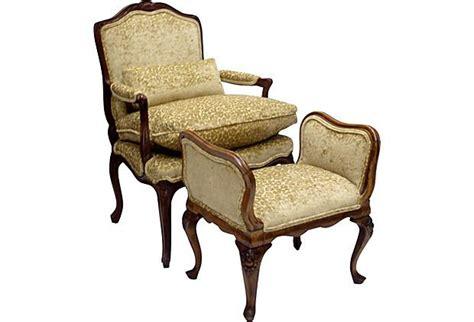 French Country Armchair W/ Footstool On Onekingslane.com