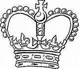 Crown Coloring Queen Pages King Printable Getcolorings sketch template