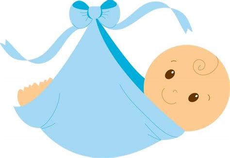 Baby Boy Clipart Swaddled Baby Boy Free Clip Cliparting