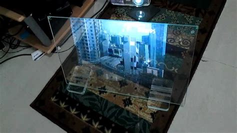 transperent video glass screen  projection foil pure
