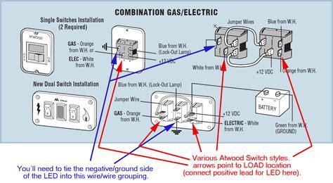 rv water heater  led lights modmyrv