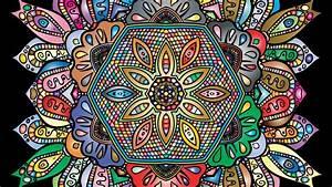 wallpaper 1920x1080 mandala patterns colorful