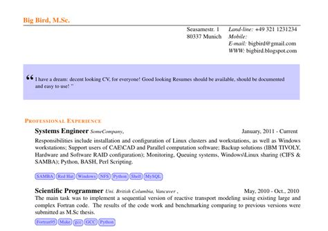 stackoverflow like resume based on res cls tex