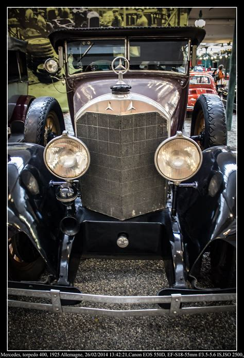 Built in 1925, the vehicle was restored in the 1980's and repainted about three years ago. Mercedes, torpedo 400, 1925 Allemagne | 6 cylindres, 3920 cm… | Flickr