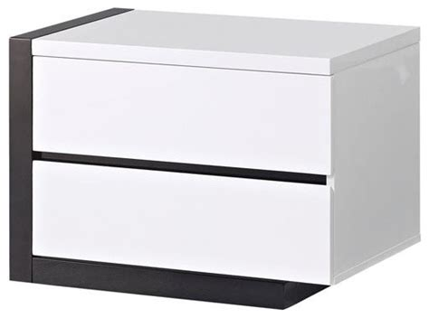 Black And White Nightstands by Global Furniture 2 Drawer Nightstand In White