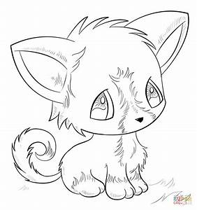 Anime Dog coloring page | Free Printable Coloring Pages