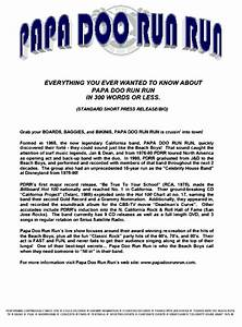 papa doo run run surf bands california surf band re With band press release template