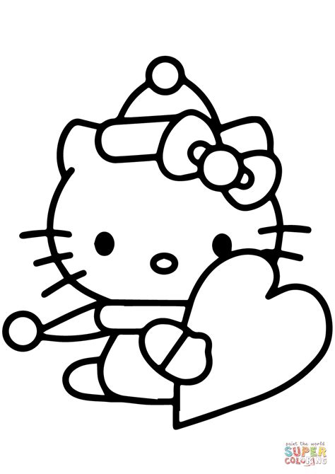kitty valentine coloring pages coloring home