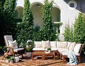 Ikea Lounge Möbel : ikea applaro lounge mit blumenkissen und einfacher wei er polsterung 30 outdoor ikea m bel ~ Eleganceandgraceweddings.com Haus und Dekorationen