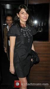 Gina Bellman. leaving L'Atelier restaurant. London ...