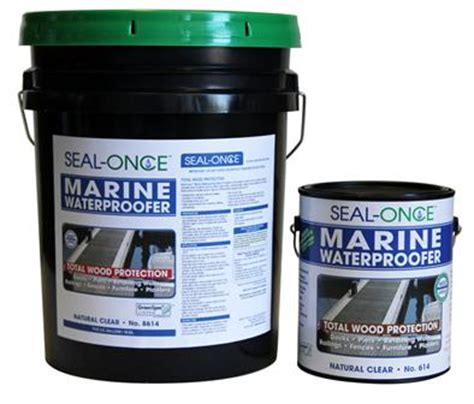 How To Waterproof Wood For A Boat by Seal Once Marine Waterproofing Wood Sealer