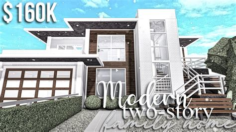 modern  story family home roblox bloxburg gamingwithv youtube