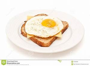 Cheese And Fried Egg On A Toast Isolated Stock Image ...