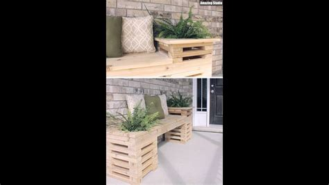 diy wood crate outdoor bench youtube