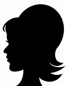 Silhouette Girl Head - Cliparts.co