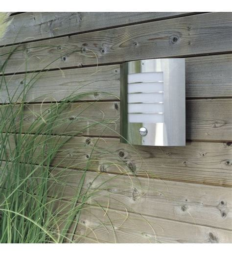 massive oslo outdoor stainless steel wall light with p i r