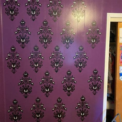 1007x1589 collection of free disney vector haunted mansion. Haunted Mansion Wallpaper Inspired STENCIL UPDATED ...