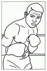 Coloring Boxing Boxer Louis Joe Sheet Olympic Sheets Clipart Printable Popular Library Results Coloringhome Categories Similar sketch template