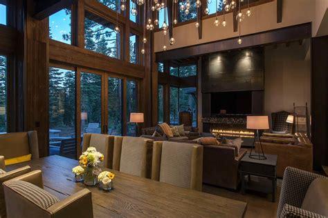 v interior design lake tahoe getaway features contemporary barn aesthetic