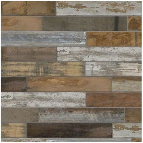 home depot rustic wood look tile marazzi montagna wood vintage chic 6 in x 24 in
