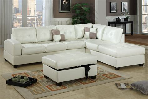 f7359 cream sectional sofa set by poundex