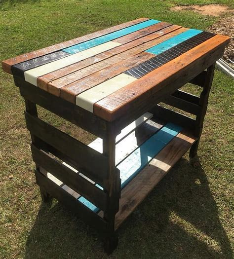 kitchen island made from pallets creative rustic pallet kitchen island wood pallet 8198