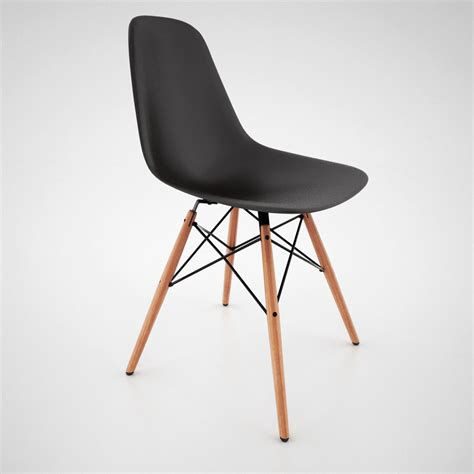 dsw chaise vitra dsw chair and eames table 3d model max obj fbx