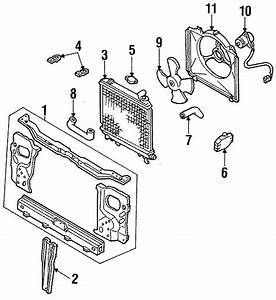 Ford Festiva Support Assembly  Manual Trans  Cooling