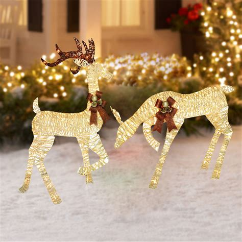 outdoor lighted christmas ornaments lighted outdoor christmas decoration reindeer holiday xmas