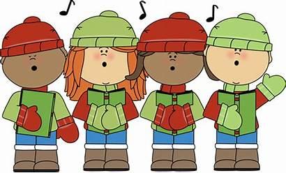 Christmas Carols Singing Clip Signing Mycutegraphics Clipart