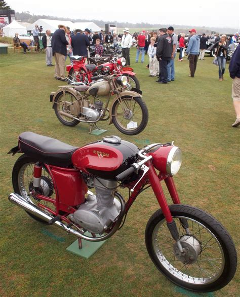 the end of motorcycles at pebble in verse triumph