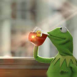 Kermit Drinking Tea Meme Generator Template