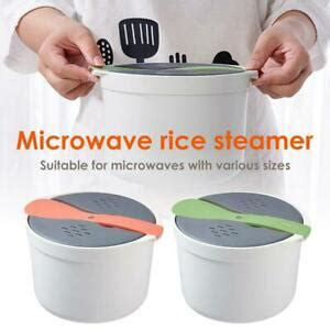 microwave rice cooker cookware food steamer bowl  strainer lid kitchen tools ebay