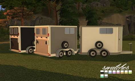 sims  designs  horse trailers open  closed