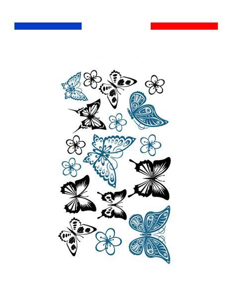 Tatouages Papillons Bleu Noir  Petite Plaquette Mon