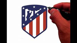 How to Draw the Atlético Madrid Logo - YouTube