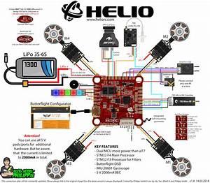 Helio Spring Flight Controller Anschlussplan    Wiringplan