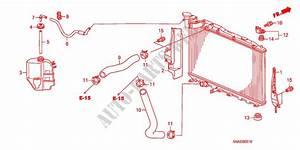 Radiator Hose  Reserve Tan K For Honda Cars Civic 1 8 Ls 4