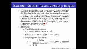 Stochastik Wahrscheinlichkeit Berechnen : stochastik teil 44 beispiele f r poisson verteilungen youtube ~ Themetempest.com Abrechnung