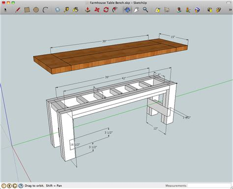 Kitchen Table Bench Plans Free by Woodworking Plans Farmhouse Table And Bench Plans Pdf Plans