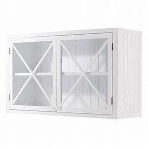 Meuble Haut Cuisine Vitré : meuble haut vitr de cuisine en bois blanc l 120 cm newport maisons du monde ~ Teatrodelosmanantiales.com Idées de Décoration