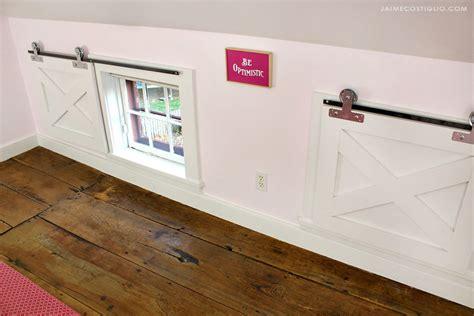 diy    barn door window coverings building strong