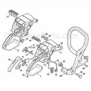 Stihl Ms 290 Chainsaw  Ms290  Parts Diagram  Handle Housing