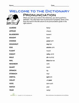 pronunciation sheet english pronunciation worksheet education com