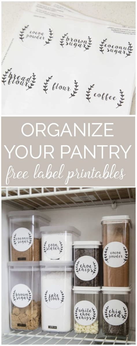steps  pantry organization   printable