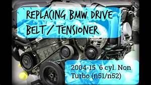 How To Replace Drive Belt W  Tensioner On Bmw 6 Cylinder  2004-15